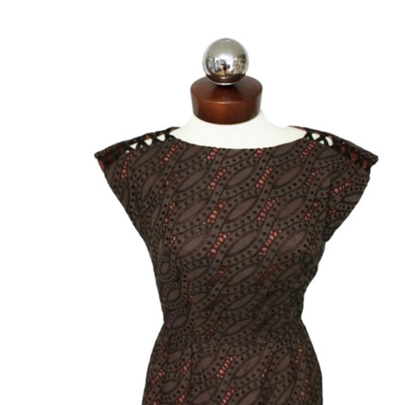 Vintage Dresses & Skirts - Vintage 60's woven shoulder embroidered dress 12